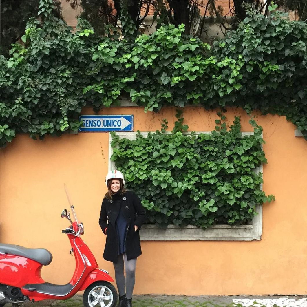 Started_the_day_in__Rome_with_a_fabulous_food_tour_through_the___Testaccio_neighborhood_with__eatingitaly_then_hoped_on_a__Vespa_for_an_amazing_ride_around_the_city_as_dusk_with__scooteromatours__Took_tons_of_film_of_it_to_share_with_you_when_we_get_
